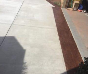concrete driveway up close